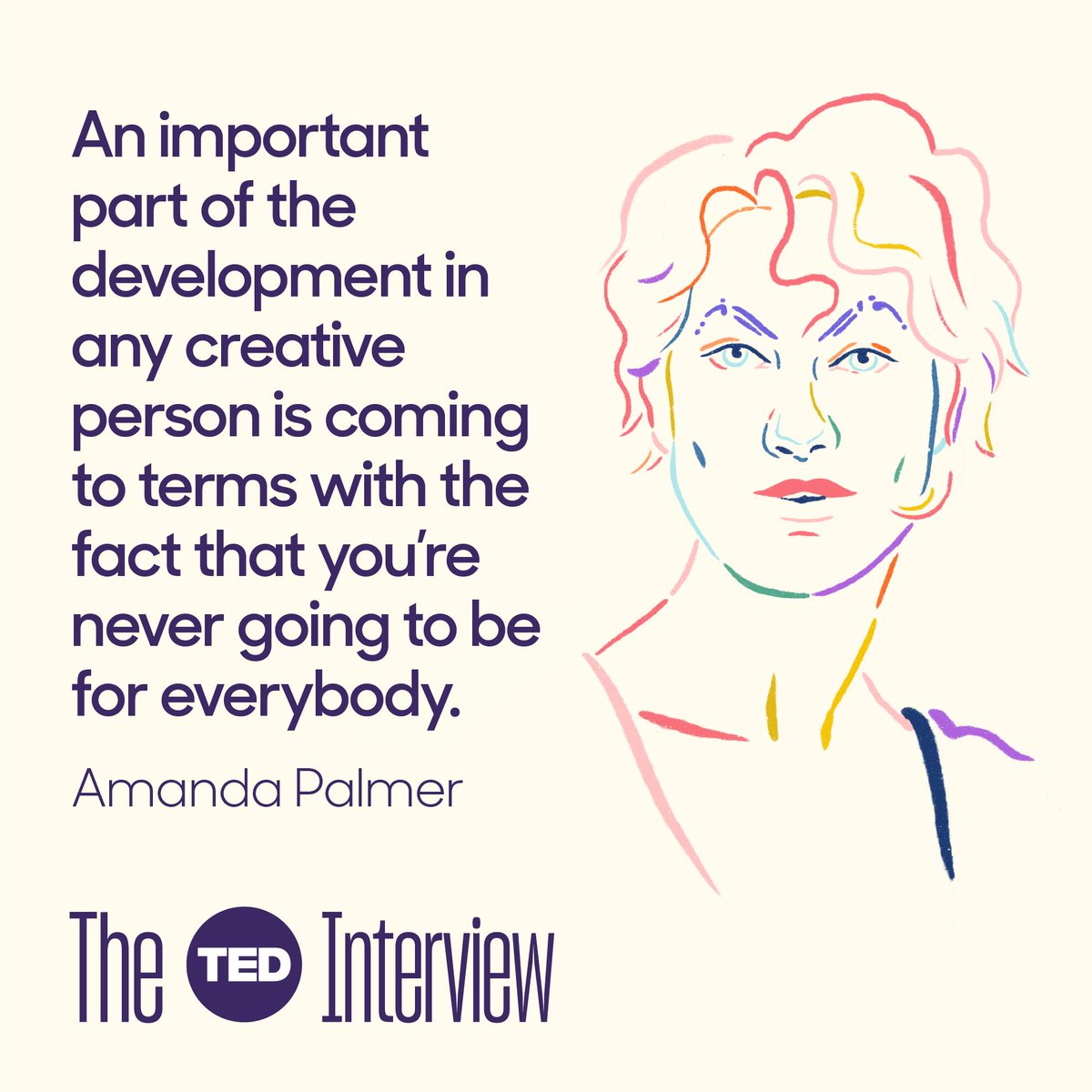 .@AmandaPalmer opens up about facing criticism and sharing deeply personal truths through her music. Learn more about one of the most unique voices in music on this episode of #TheTEDInterview. Listen on @Spotify: http://t.ted.com/JdIpXtX