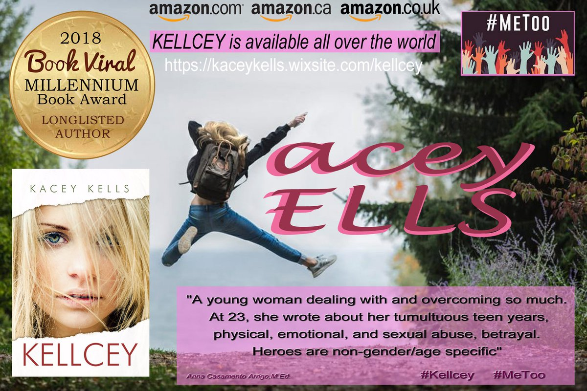 KELLCEY This story not only bears witness to what countless other women have gone through, but also offers a message of hope. Kellcey is a resilient young woman who is brave enough to speak her truth, face it, & work to heal. #KaceyKells #MeToo #Rape amazon.com/Kellcey-Kacey-… …