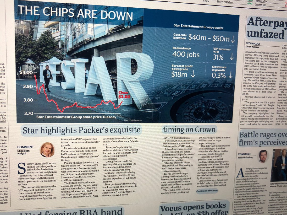 Gulled! NSW Barry O'Farrell Govt. gave James Packer a casino licence for a building (on alienated public land at Barangaroo) 400 metres from Sydney's The Star casino. Now the business plan (Chinese high rollers) has collapsed Mr Packer is exiting. Well done Barry. @smh<br>http://pic.twitter.com/cmSpSon4uN