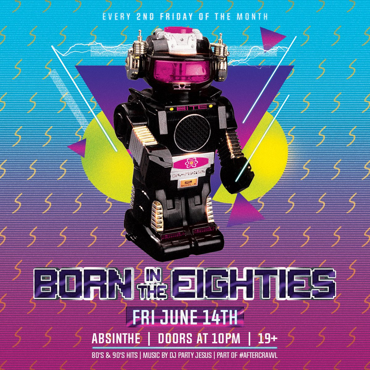 FRIDAY! Hop into the wayback playback machine and join us for our monthly #aftercrawl with your fave 80's and 90's cover band BORN IN THE EIGHTIES. Music and visuals as always by DJ PARTY JESUS. Don't stop believin' #hamont