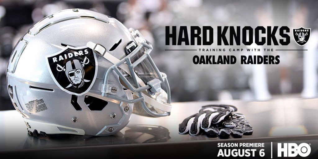 This year, #HardKnocks heads to Oakland. Kick off a new season with the @Raiders August 6th at 10PM on #HBO.<br>http://pic.twitter.com/yBWas7imAX
