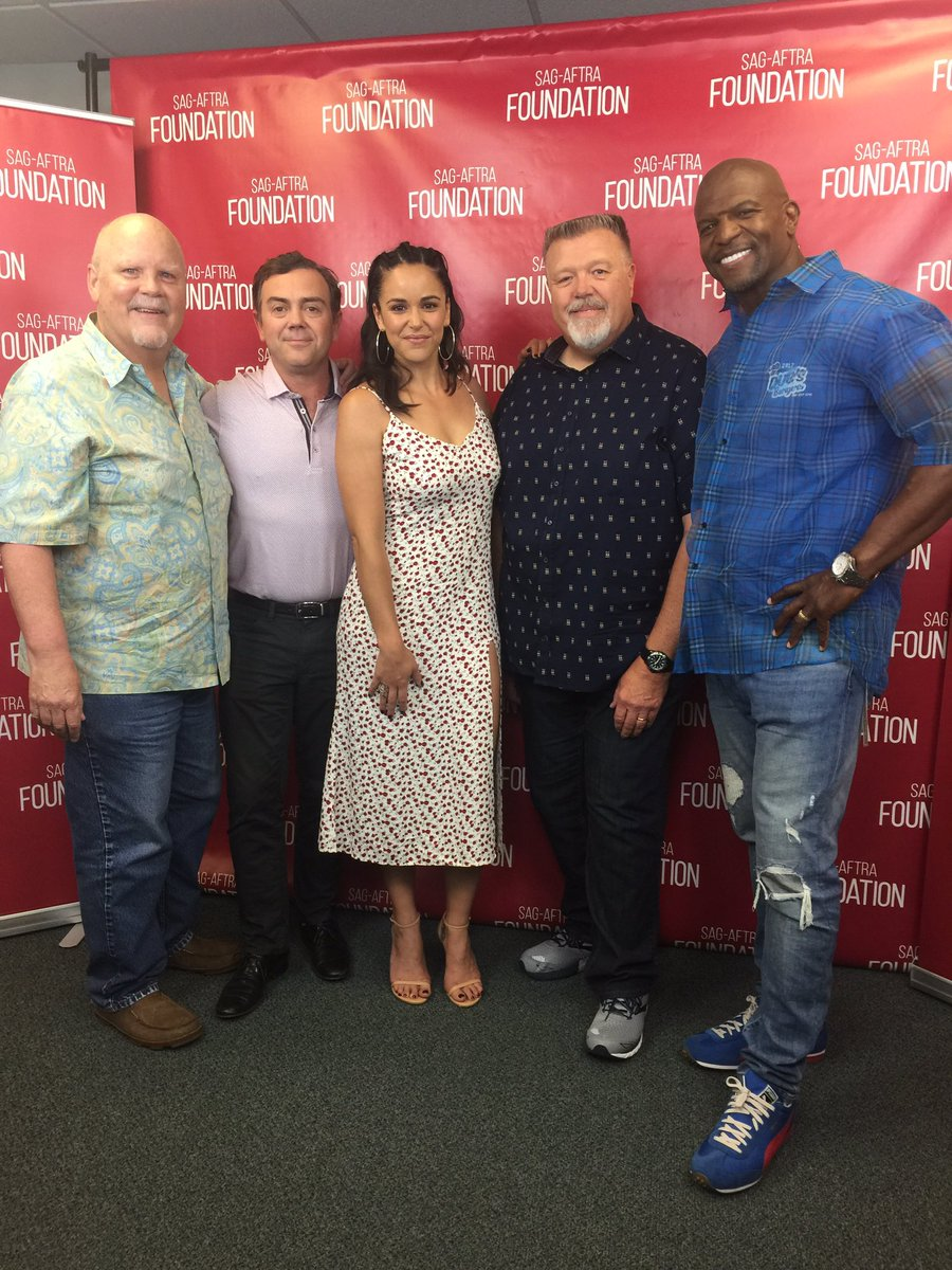Brooklyn's in the house!! We have the cast of @nbcbrooklyn99 at @sagaftraFOUND today!