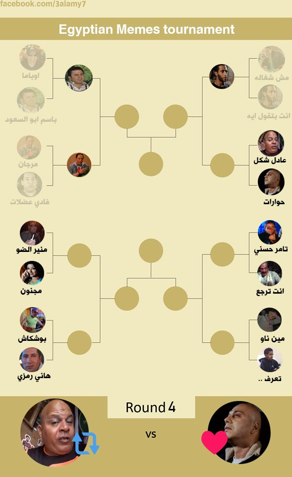 راوند 4 : عادل شكل vs أصلي حوارات #Egyptian_Memes_tournament