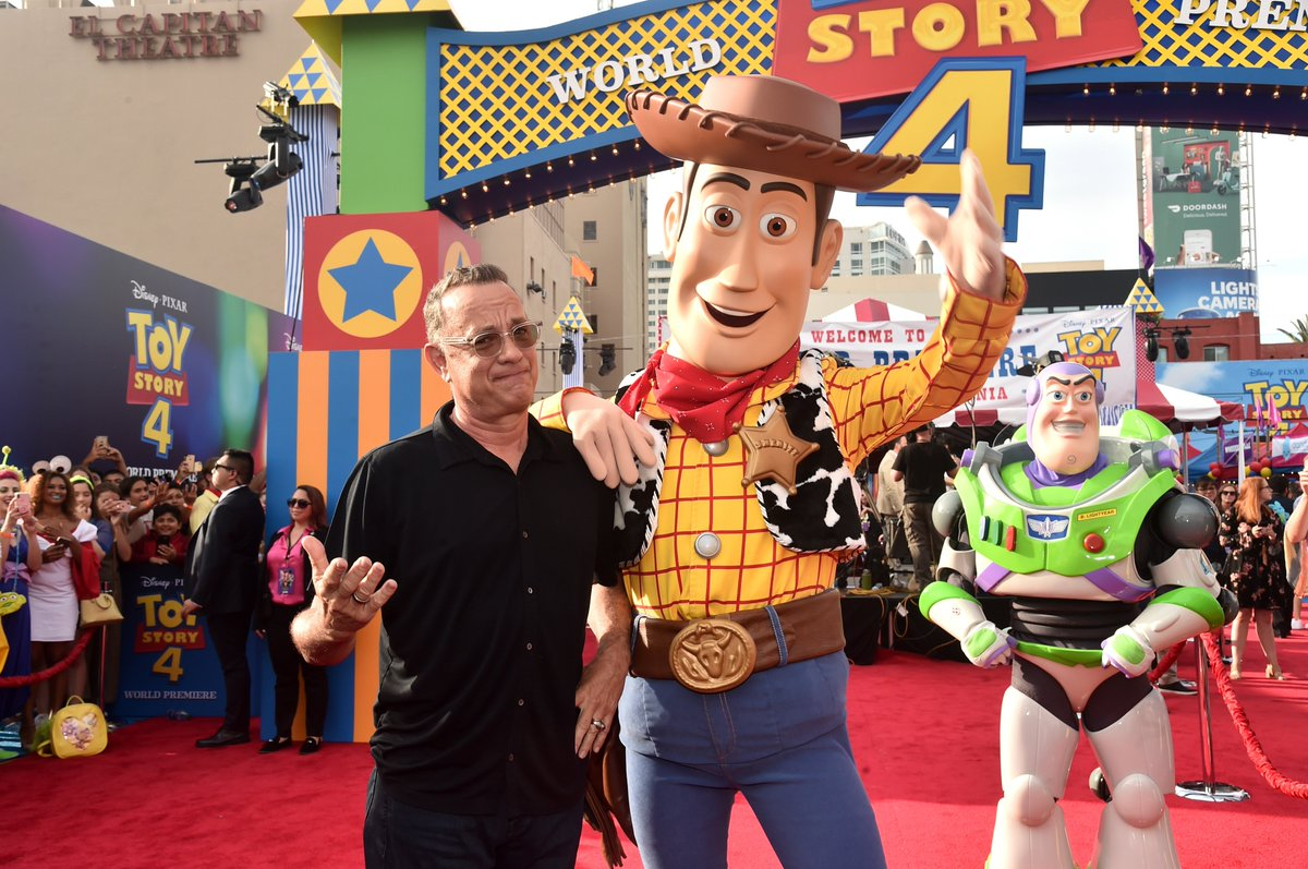 Ready 4 a celebration? Join @tomhanks, @ofctimallen, and the rest of the stars at the world premiere of #ToyStory4.