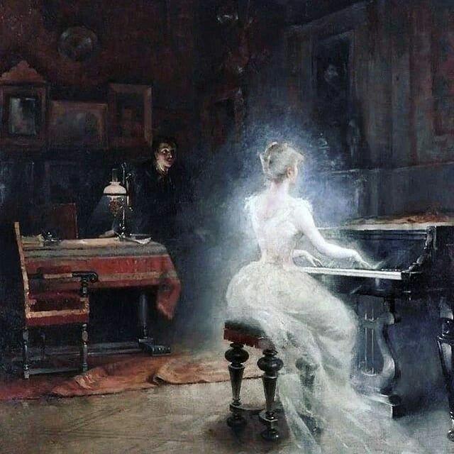 George #Roux (1853-1929)  - Spirit  #art #paintings #arte #ScrivoArte #classicalmusic #potd #12giugno #June12 #bonjour #BuenosDias #goodmorning #buongiorno 1<br>http://pic.twitter.com/NxfacW1ngj