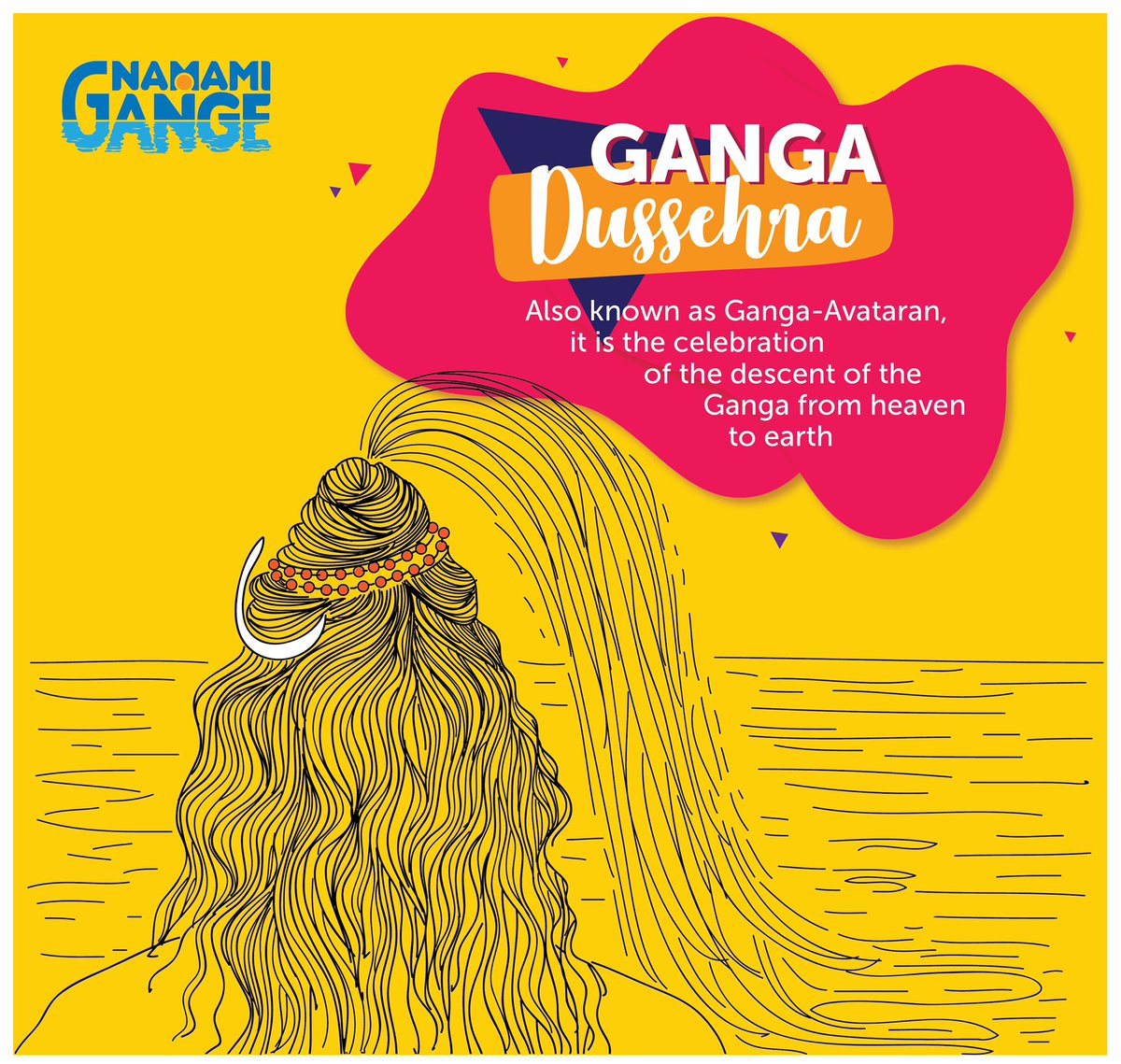 Ganga Dussehra also known as Ganga-Avataran, it is the celebration of the descent of the Ganga from heaven to earth.  #GangaDussehra #NamamiGange
