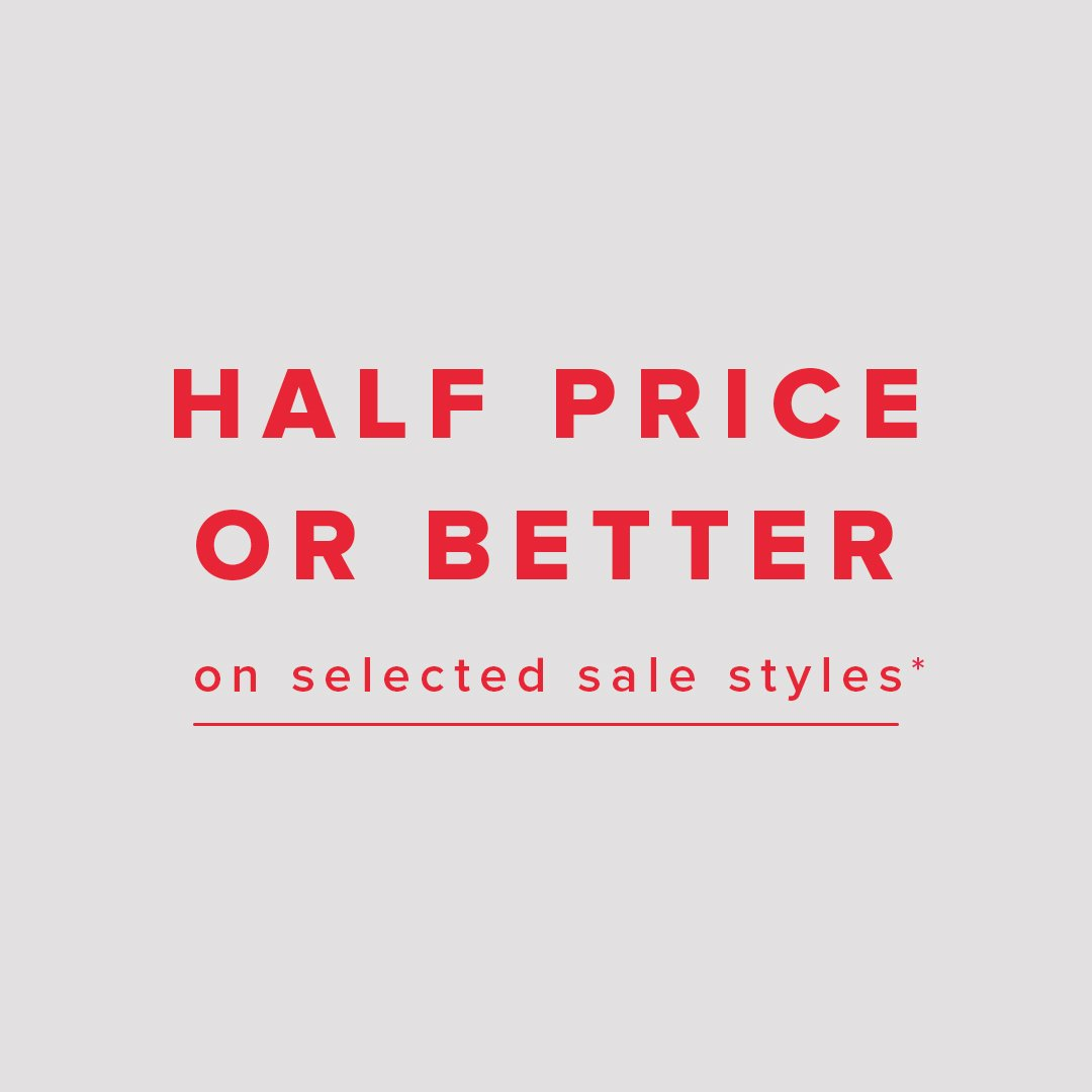 Half price or better! 🔥  Shop Sale > https://t.co/IK1CSvux05  *Prices as marked. Selected styles and colours listed. Subject to terms and conditions.  #theiconic https://t.co/JVSbiyU9Zd