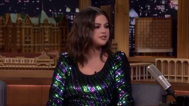 ".@SelenaGomez confirms that her new album is finally complete! She describes it as 'strong pop' with a lot of electrical guitars! 😲😍  ""I've been working on it for 4 years now"".  #SelenaOnFallon"