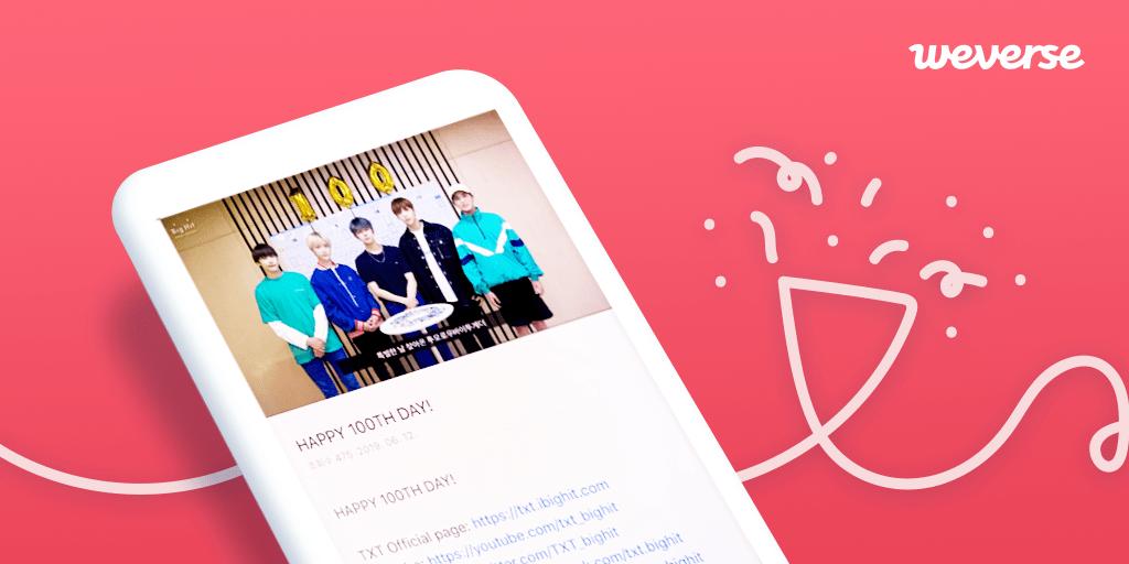 #Weverse #TOMORROW_X_TOGETHER #TXTWeverse デビュー100日を迎えたTOMORROW X TOGETHERメンバーから、Weverseへお祝いのビデオメッセージが届いています💯 今すぐ要チェック‼☺️☺️ Weverseで確認する:weverse.io