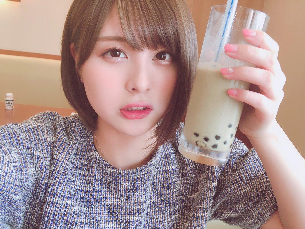 佐藤栞ちゃん、新潟でタピオカを飲む