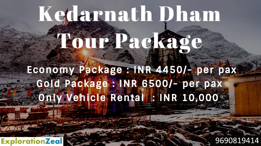 Kedarnath Dham Yatra (ek dham)  Kedarnath is dedicated to Lord Shiva and is also a part of the Panch Kedar. It is the northern-most Jyotirlinga and is close to the source of the holy River Mandakini. Adi Shankaracharya is said to have attained 'samadhi' at a very young age