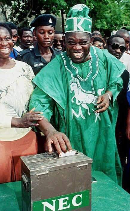 Now that June 12 has been officially recognised as #DemocracyDay, It is only fair to refer to him as Former President MKO Abiola. The true hero of Democracy.