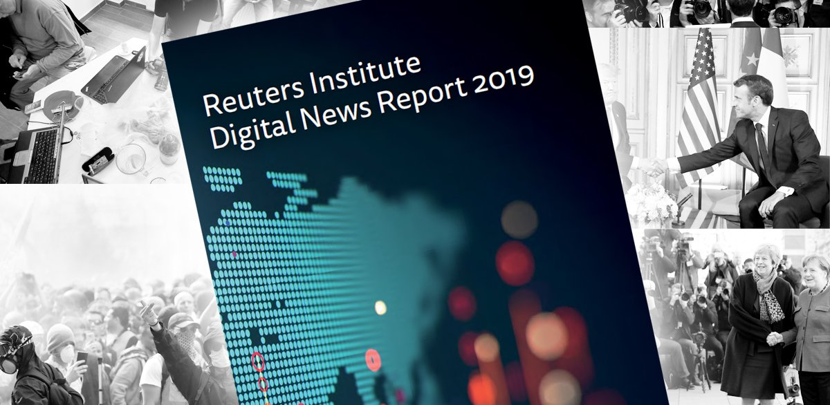 2019 @risj_oxford Digital News Report out. 38 markets. 6 continents, Independent, evidence-based, international analysis from @nicnewman @dragz @antoniskalog & our partners 5 key findings from me in thread, discussion under #DNR19, more in full report digitalnewsreport.org 1/7