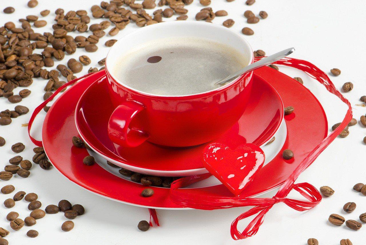 Красивая открытка чашечка кофе, пожелание
