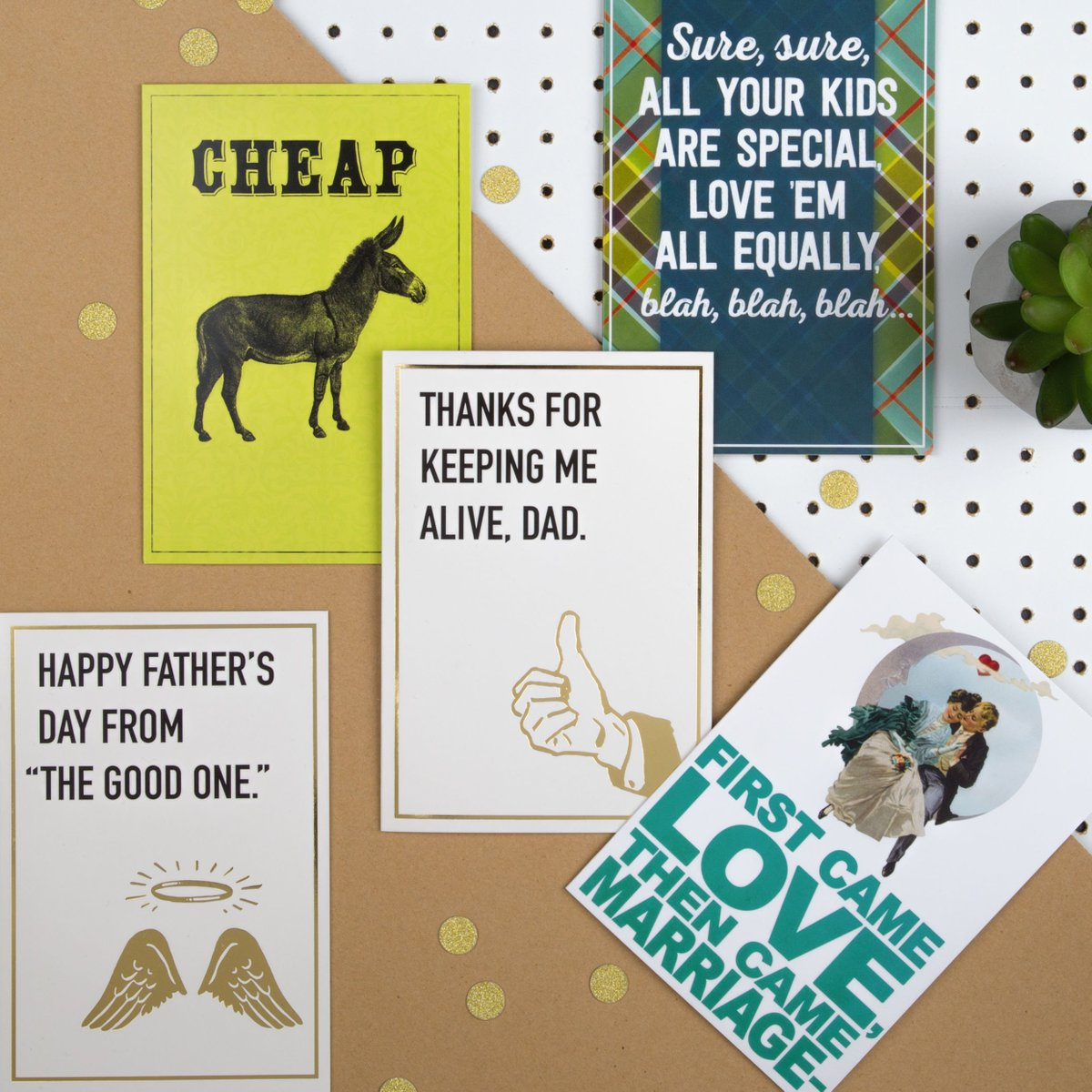 We don't often tell Dad jokes here at Hallmark… but when we do, we really make him laugh!😉 See for yourself by choosing one of the hilarious cards available on our online store this Father's Day https://amzn.to/2Ip3WXt