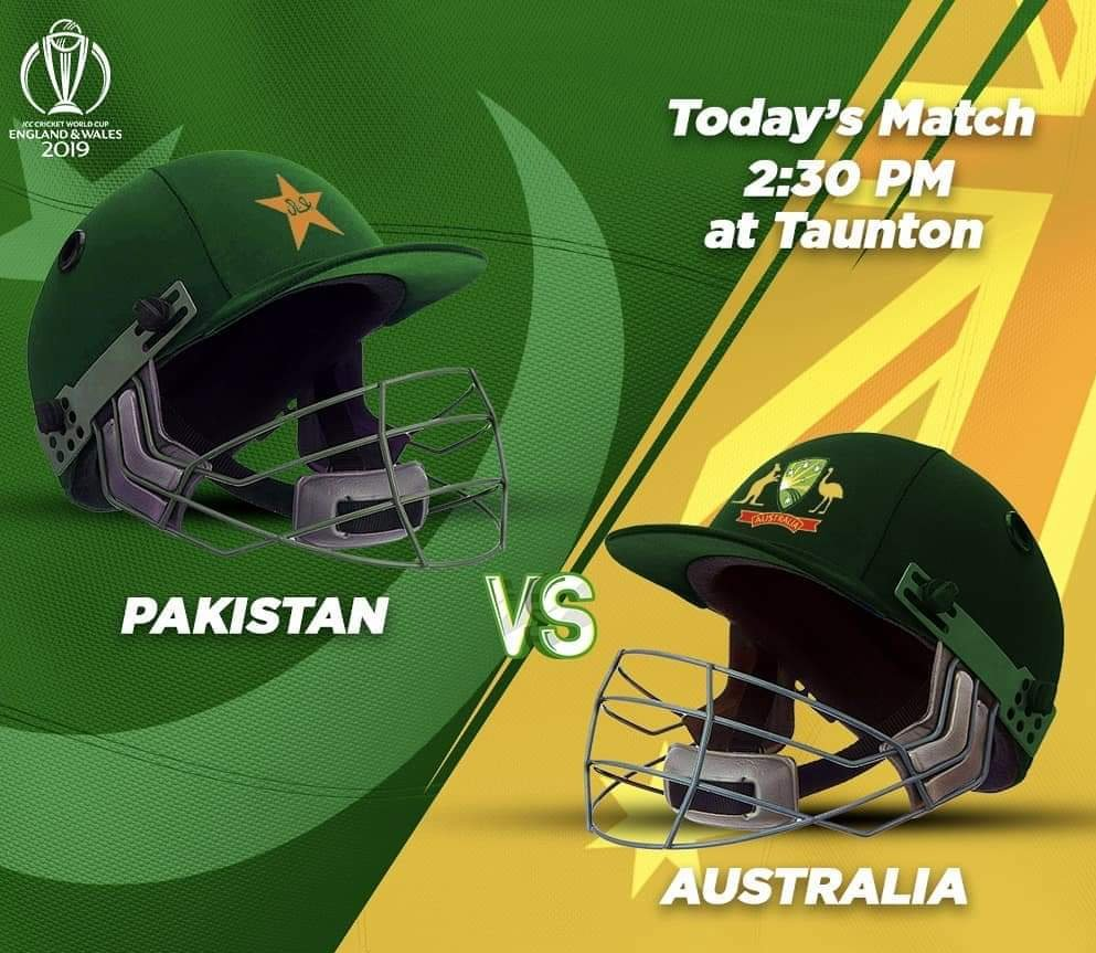 Big match at Taunton today between our Men in Green 🇵🇰 and the mighty Aussies 🇦🇺! Who do you think will end the day as victors? #WeHaveWeWill  #CWC19