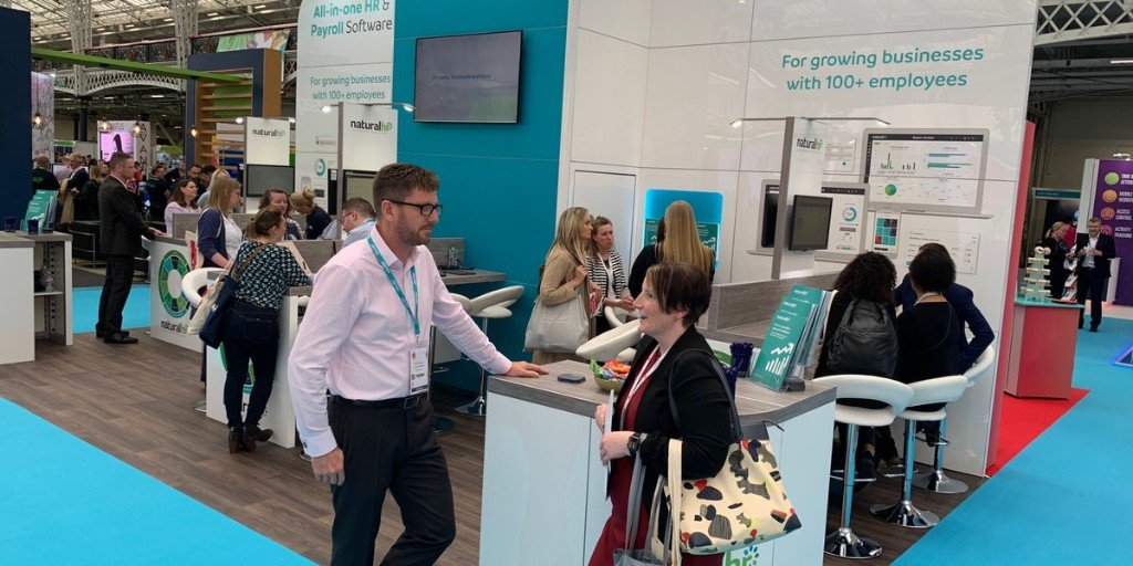 Its been a flying start to the @FestivalofWork - the team have loved chatting to everyone! Drop by stand C100 for a tailored tour of our all-in-one #HRSoftware and the first look at our fully integrated #payroll feature. #FestivalOfWork #HRTech