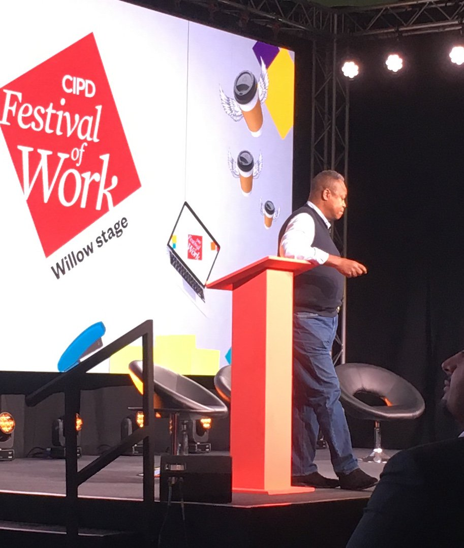Really powerful presentation from @renecarayol listen to your people because the answer is always inside your organisation. Give your people a voice - and quick! #FestivalOfWork