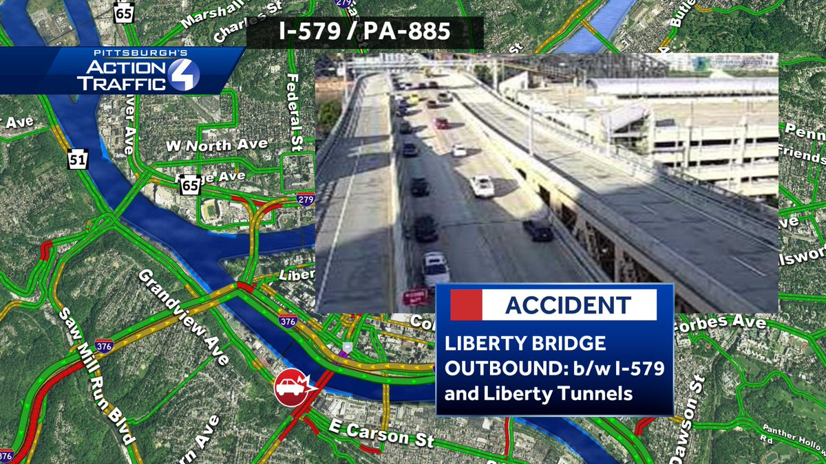 LIBERTY BRIDGE CRASH HAS CLEARED! All lanes of traffic reopened 7:35am#wtaetraffic