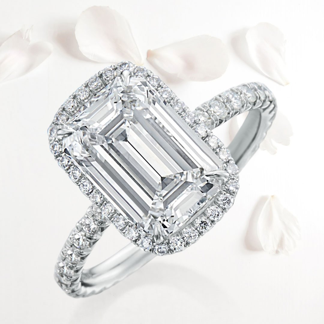 For the moments you wish lasted forever. . . . #WeddingWednesday #WilliamGoldberg #EmeraldCut #DiamondRing #Diamond #HaloRing #EngagementRing #Engagement #Wedding #HappilyEverAfter <br>http://pic.twitter.com/hcNDpYlXJN