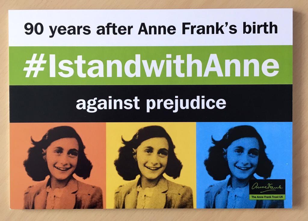 Today would have been Anne Frank's 90th birthday. Remember her extraordinary legacy today and call out all discrimination, prejudice and hate crimes #IStandWithAnne @AnneFrankTrust<br>http://pic.twitter.com/MA5t7t5jam