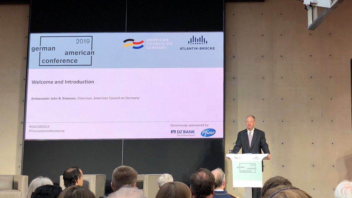 The best way to address global challenges is to work together. Our organizations work together to create mutual understanding, especially among young people, @JohnBEmo #GACON2019 #TransatlanticResilience – at Brandenburger Tor