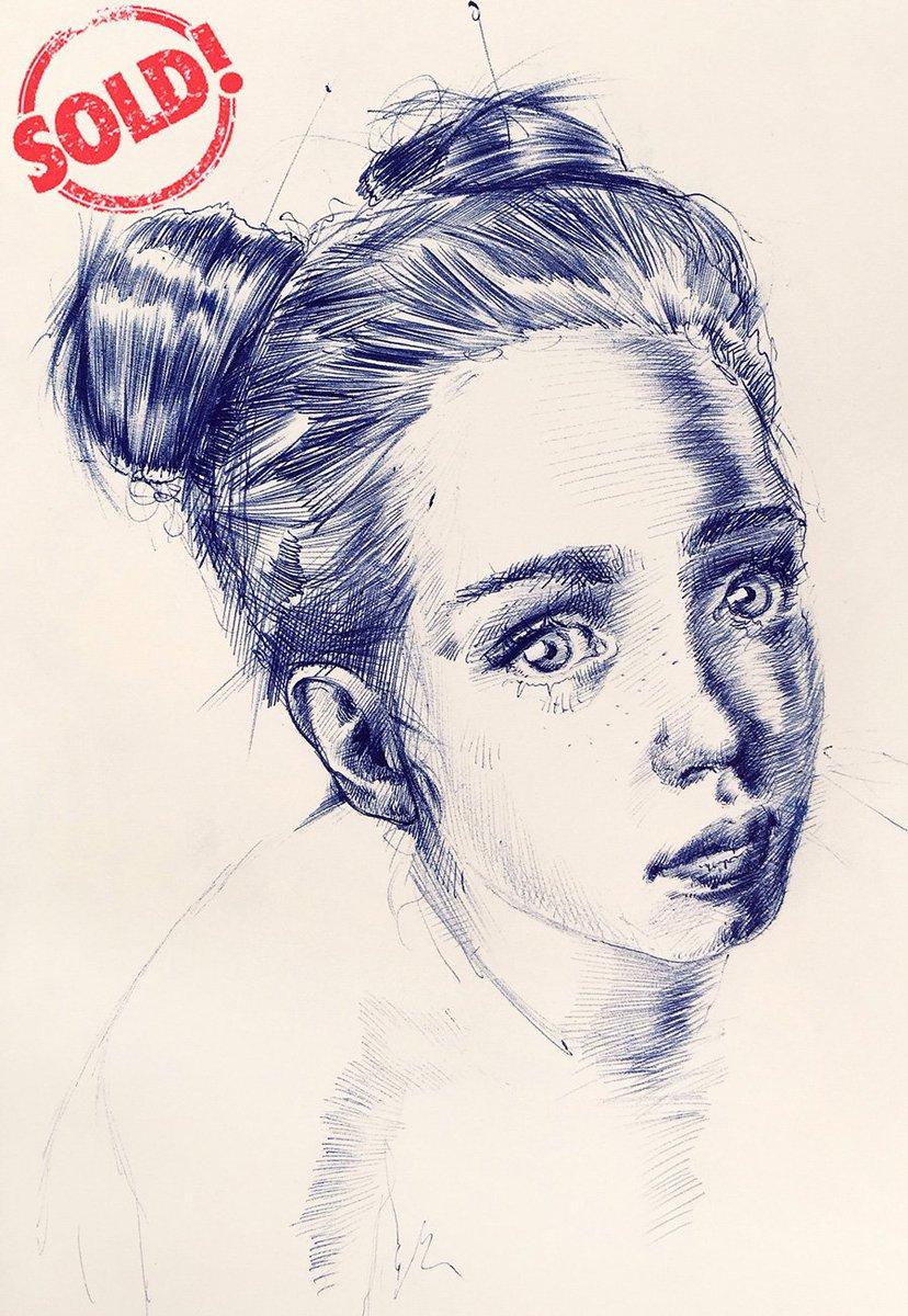 SOLD Ballpoint on paper  @artfinder    http:// dariomoschetta.com            @DarioMoschetta  @PayPal  #12giugno #WednesdayWisdom #WednesdayMotivation #artists #drawing #paintingoftheday #portrait #London #Milano<br>http://pic.twitter.com/rjHLH9NtoE