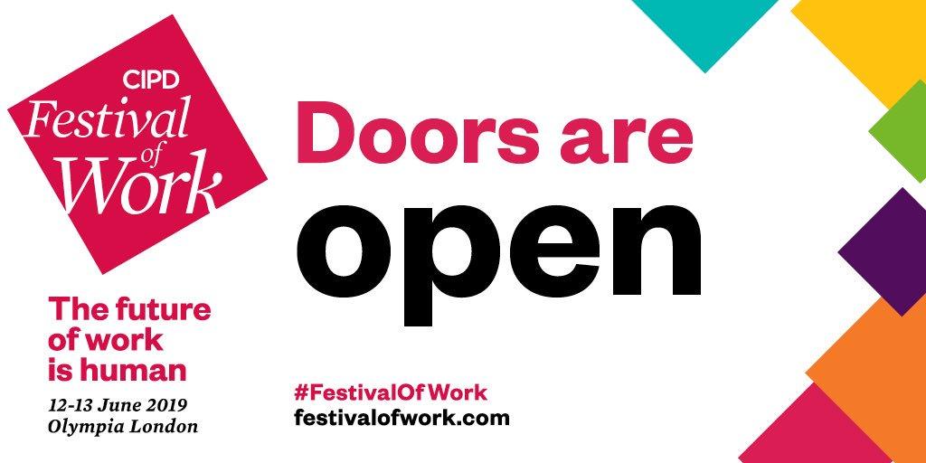 🙌 Doors are now open #FestivalOfWork 🎉