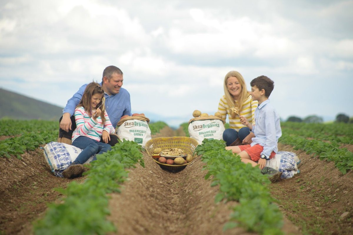 Scottish organic potato farmer John Skea, and his family, enjoyed a breakfast of #organic tattie scones this week, as part of a series of 'Wake Up To Organic' events, aimed at showing how easy it is to switch to an organic breakfast. #WakeUpToOrganic @organicUK<br>http://pic.twitter.com/FmpO2TpMIw