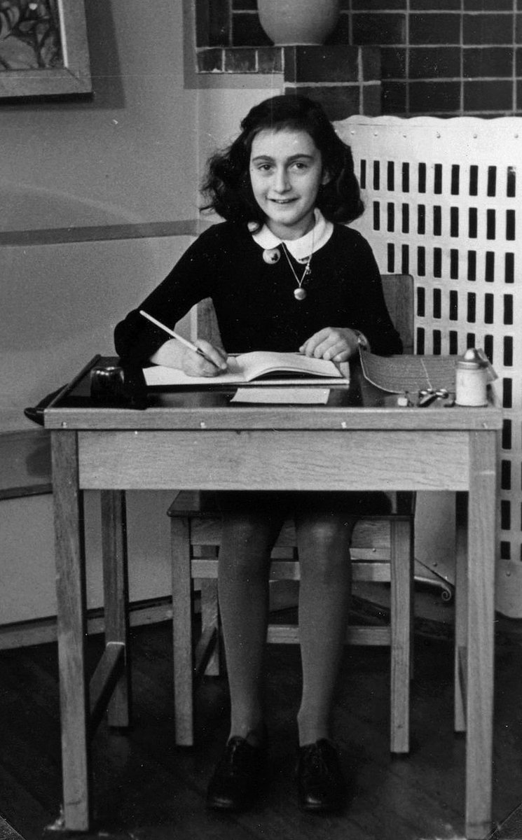 12 June 1929 | 90 years ago Anne Frank was born in Frankfurt. In 1942 on her 13th birthday she received an empty diary. She died in Bergen-Belsen concentration camp in 1945. Human greatness does not lie in wealth or power, but in character & goodness. #AnneFrank #Anne90 #RT