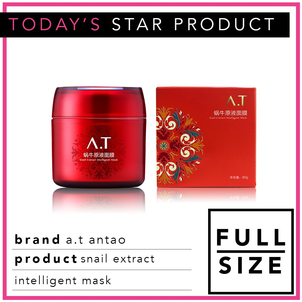 Today's #StarProduct is A.T Antao's Snail Extract Intelligent Mask 🐌 http://bit.ly/LiB-Explore  #LoveLiB