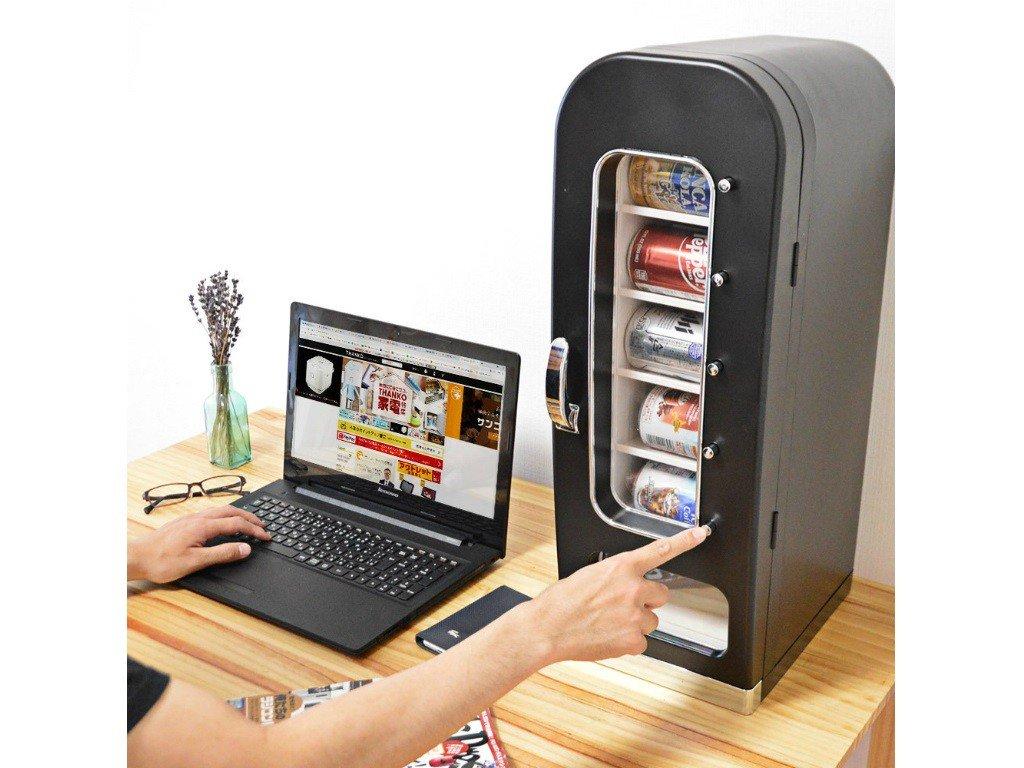 冷たい飲み物がすぐ飲めるマイ自販機、サンコー「俺の自販機」発売