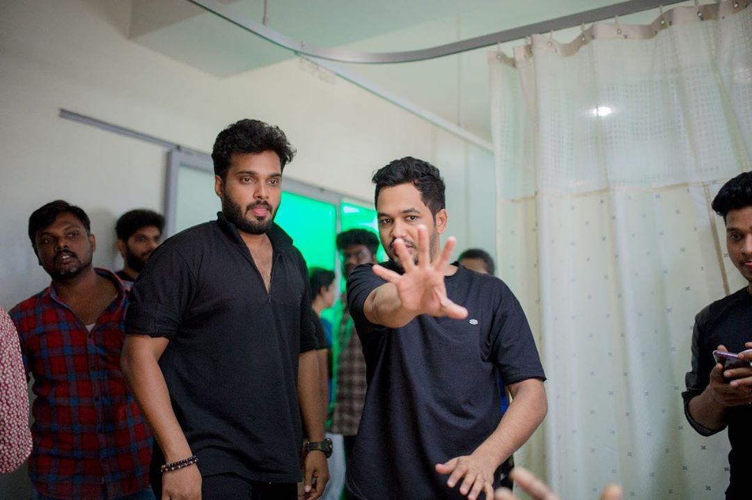 "That ""etha pannalum plan panni pannanum"" moment with cinematographer #Aravindsingh 😊"