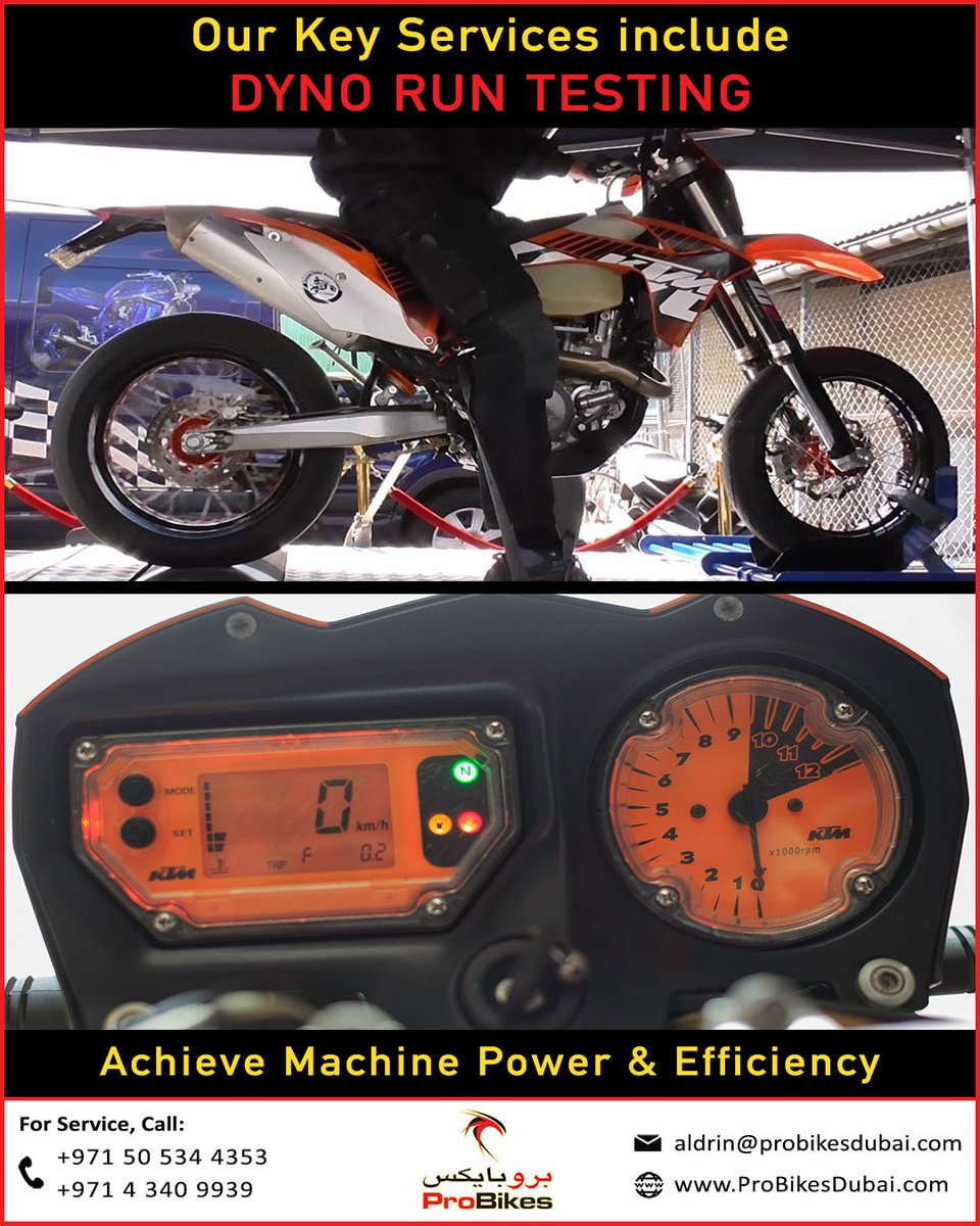 Improve Your #Motorcycle Efficiency With #DynoRun Testing  Call +971505344353  http://www. ProBikesDubai.com     #dubai #mydubai #ProBikesDubai #Ride #Service #Workshop #Rally #Racing #Motorbike #dubairiders #Rider #Biker #DubaiLife #UAE #Mechanic #Automobile #Dyno #dakarrally #dakar2020 <br>http://pic.twitter.com/BqZrw04pmo