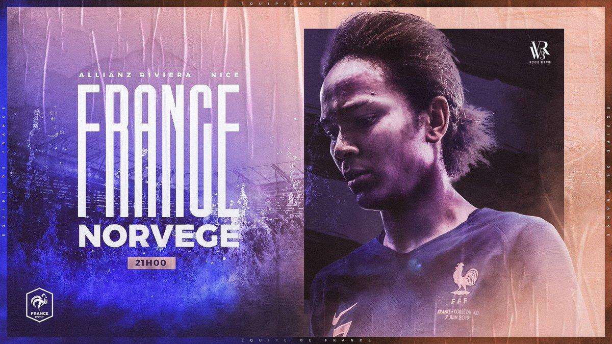 🔵⚪️🔴 Jour de match ! 🆚 Norvège 📍 @AllianzRiviera ⌚️ 21:00 #FRANOR #FieresDetreBleues #WR3