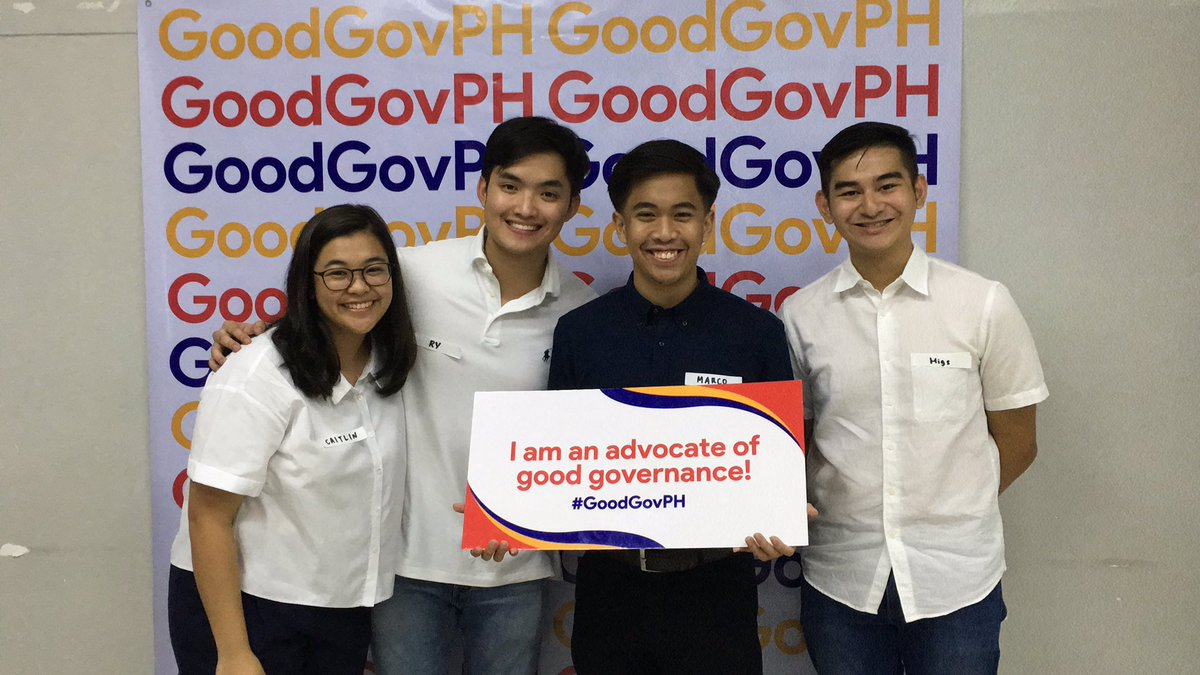 @AteneoCODE members are advocates of good governance! Have your photo taken at our photo booth! #GoodGovPH https://t.co/HzwyWN9G21