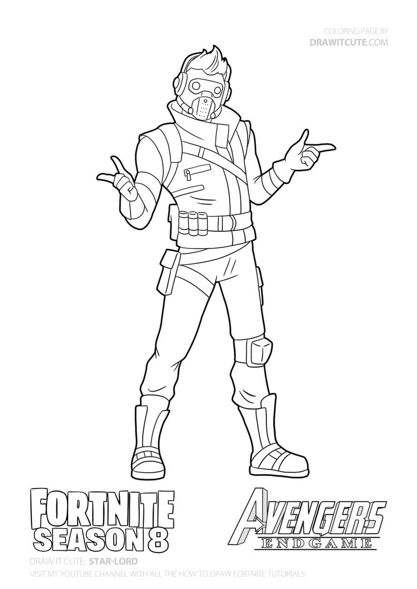 Draw It Cute On Twitter Star Lord From Fortnite Endgame Guide With Coloring Page Download Link Https T Co Xffjeurtno Fortnite Fortnitebattleroyale Drawitcute Howtodraw Coloringpages Fanart Wallpaper Desktop Background Season9