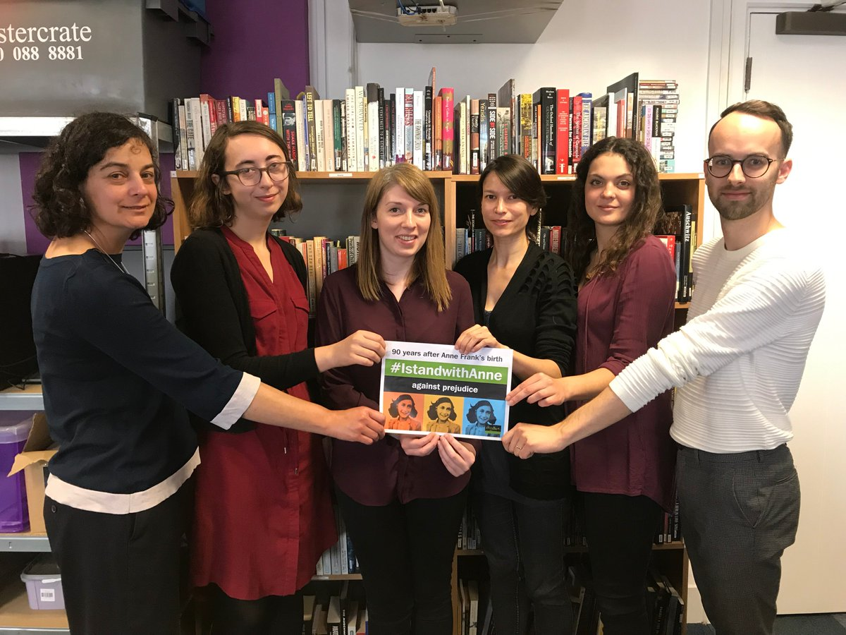 90 years after Anne Frank's birth the staff team at HMDT stand with Anne against prejudice and hatred. We pay tribute to Anne and support her message of social justice and equality for all. #IStandWithAnne <br>http://pic.twitter.com/NZl0CSEBgW