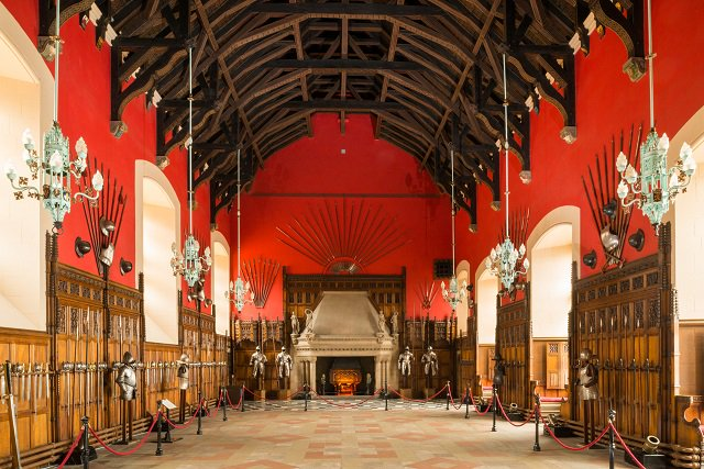 The Great Hall was completed in 1511 for King James IV. The roof's stone console-brackets are richly carved, with images of Italianate Renaissance character making the roof one of the earliest examples of Italian-inspired architecture built in the British Isles. #WednesdayWisdom