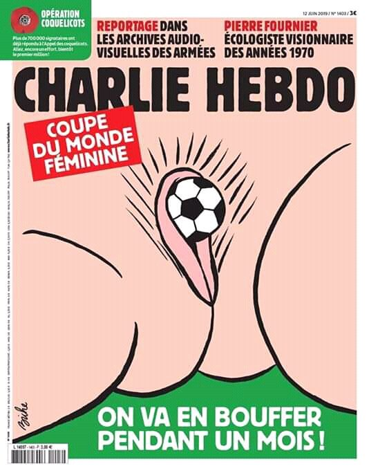 What does a woman's Vagina got to do with the  ongoing female World Cup . Women need respect. #CharlieHebdo be professional stop  VAW <br>http://pic.twitter.com/oNAq0ipnN7