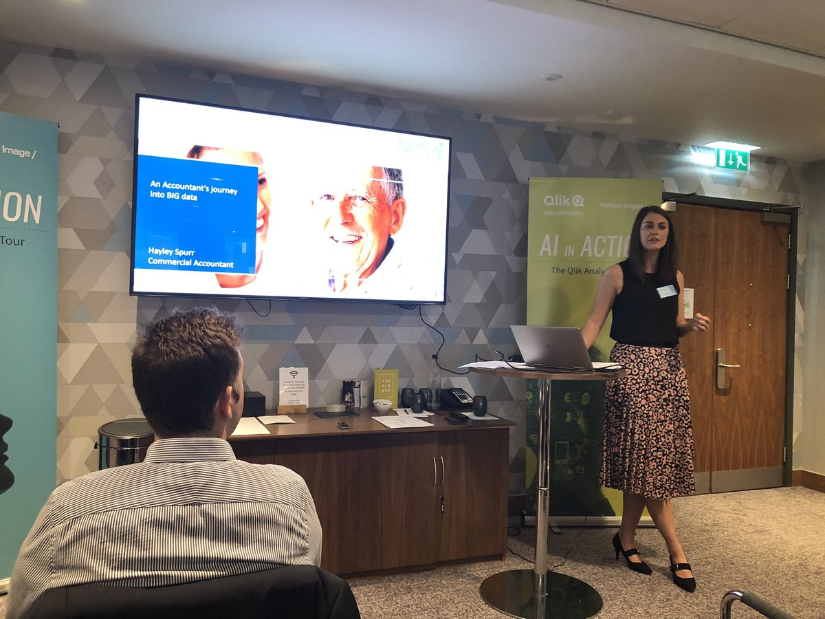 Haley from NRS Healthcare sharing their incredible story of moving from time consuming reports built by IT, to self service reporting with Qlik Sense that wins them tenders from the 40 million pieces of data they have access to! #qlik  #analytics  #QAT2019