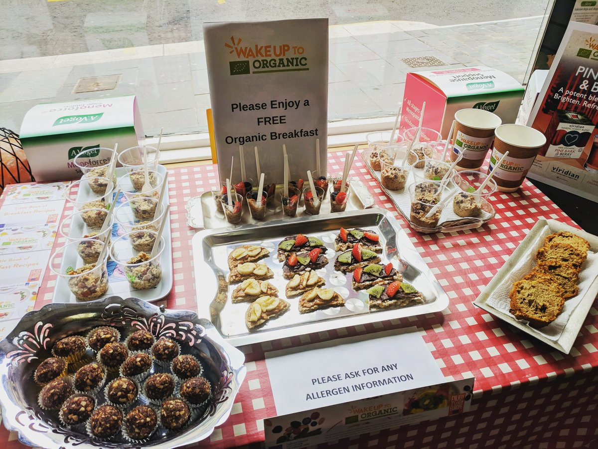 WakeUpToOrganic is on and have we got a spread for you  Come and try some delicious organic food, get some recipe ideas and find out the benefits of eating organic. Hope you can join us while there's still some left  #FeedYourHappy<br>http://pic.twitter.com/iwwIYvGW10