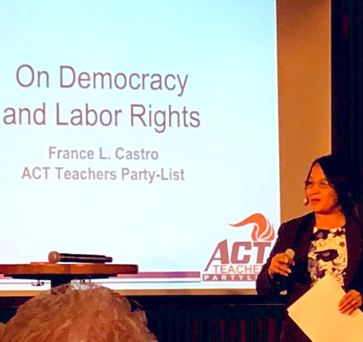Filippinske France L. Castro er årets vinner av Arthur Svenssons internasjonale pris for faglige rettigheter - hun får prisen for sin mangeårige kamp for å organisere lærere og for å slåss for grunnleggende arbeidstakerrettigheter på Filippinene #utdanning @utdanningsf