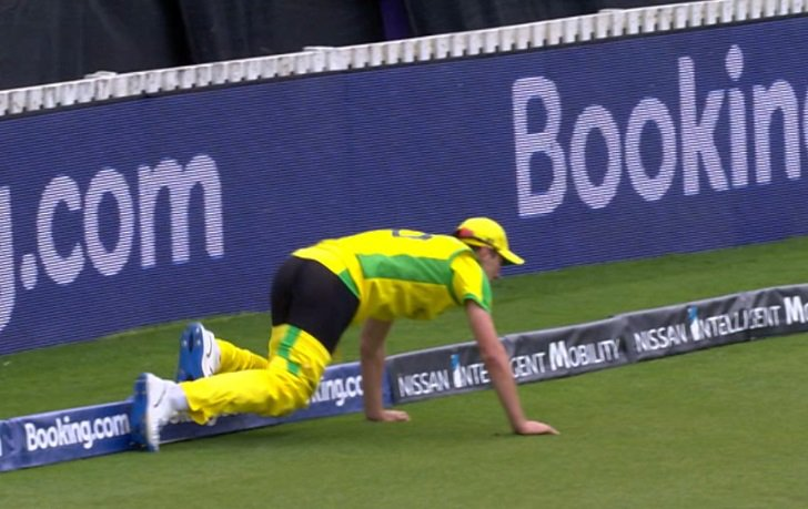 'Magnificent fielding, even as his trousers came off.'😳Watch: https://bbc.in/2X8xGRC#cwc19 #bbccricket
