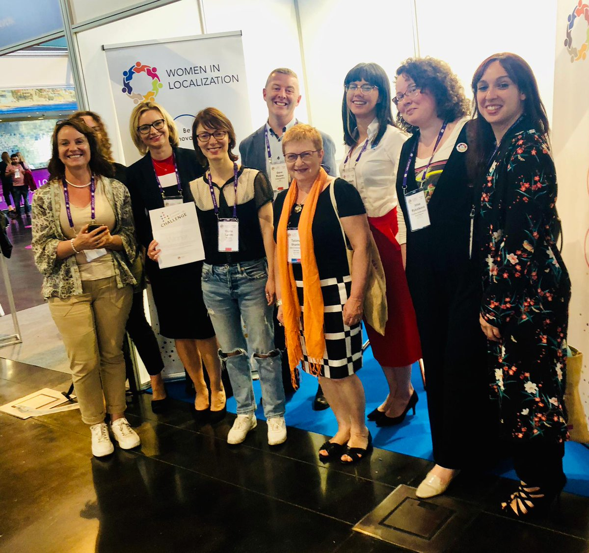 Another glass ceiling broken, well done @giuliaida on winning the sixth running of the #l10nPIC  with the ladies from #womeninl10n st #LocWorld40<br>http://pic.twitter.com/gZhLkKX3zc