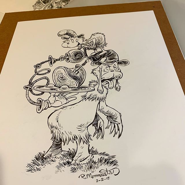 Going through some old files I found the original inks for a piece I drew for Dr. Seuss's birthday a couple years back. #greeneggsandham #samiam #drseuss #childrensbooks #drseussfan #fanart #inkdrawing #robbmommaerts #cartoonistsofinstagram #theodoregeis… http://bit.ly/2KgiQ5E