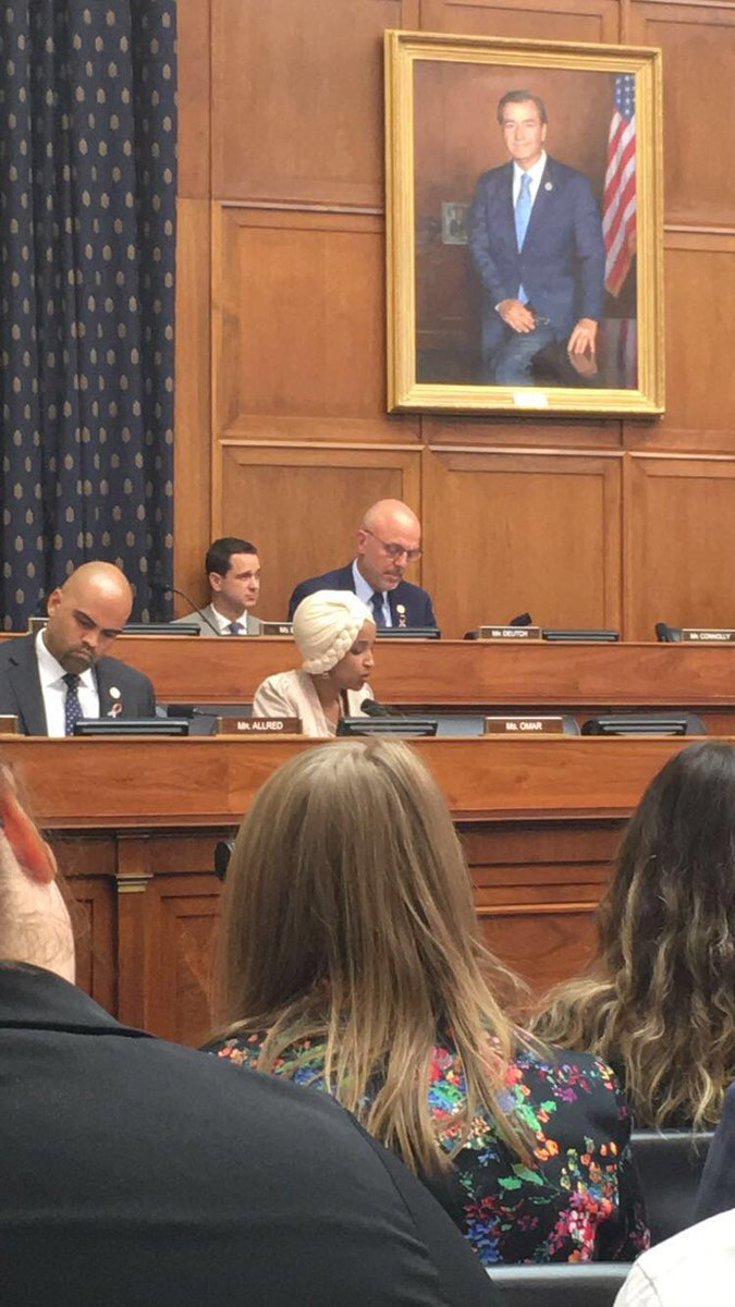 Congress member @IlhanMN questions whether our security partnership with #KSA will prevent US made weapons from ending up in the hands of terrorists destabilizing the region #HFAC<br>http://pic.twitter.com/bEzMGzmMgP