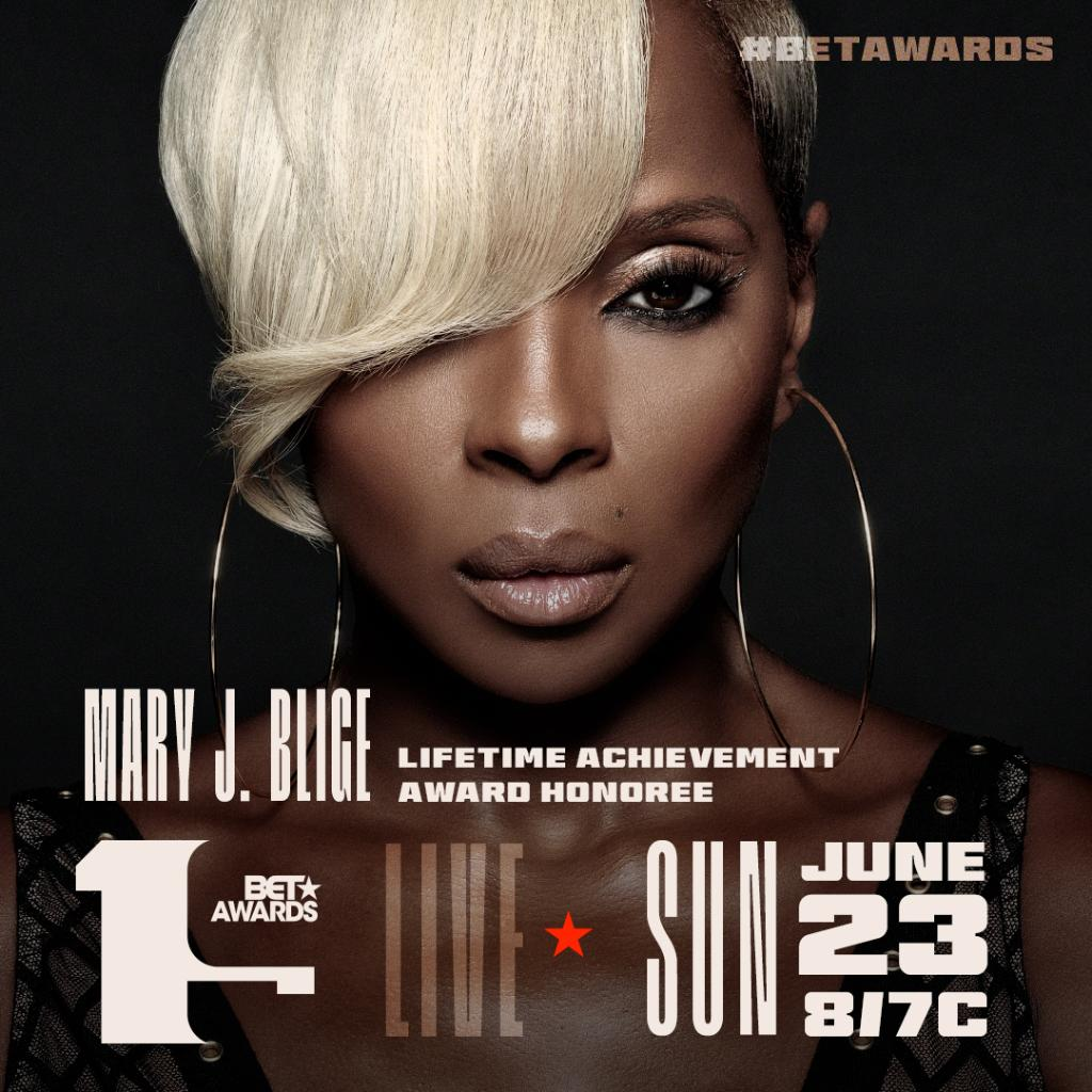 It's a family affair!! @maryjblige is our 2019 Lifetime Achievement Award Honoree!! You don't want to miss the celebration at the #BETAwards  SUN JUN 23 8/7c! <br>http://pic.twitter.com/jYWrGLAPyL