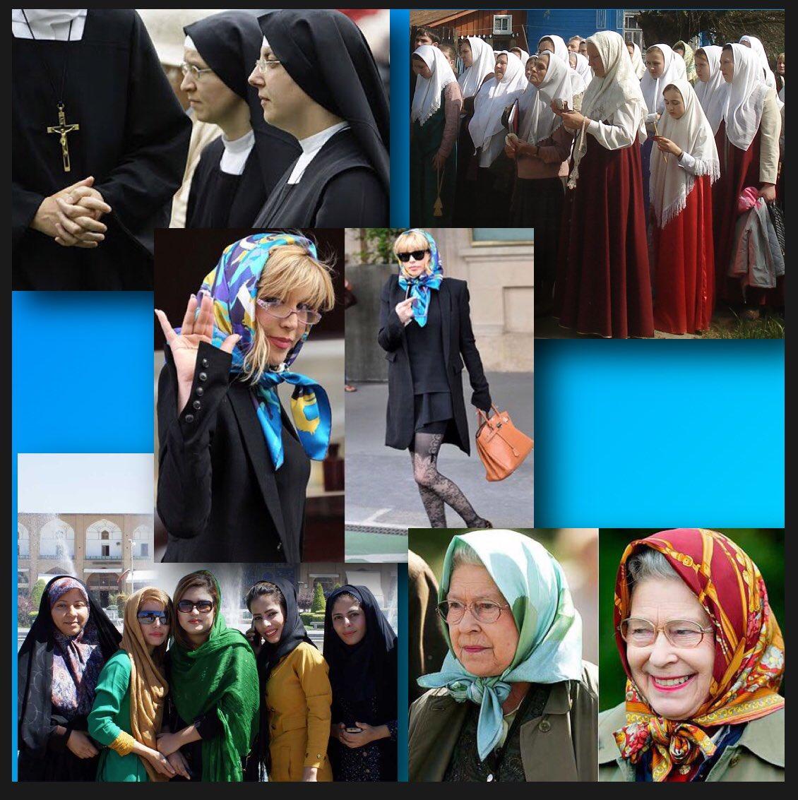 Meine Mutter und meine Oma haben auch Kopftuch getragen. Wer Frauen dazu zwingt ein Koptuch zu tragen ist genauso bekloppt wie einer der Frauen zwingt ohne Kopftuch zu sein. #Selbstbestimmung #Gleichberechtigung #KeinZwang  Nonnen - Orthodoxe - Mode - Iran - Queen pic.twitter.com/HNoInuZuce