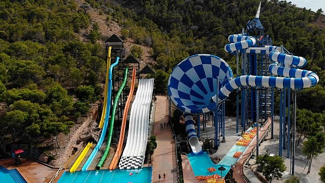 The largest water slide in Benidorm was officially opened
